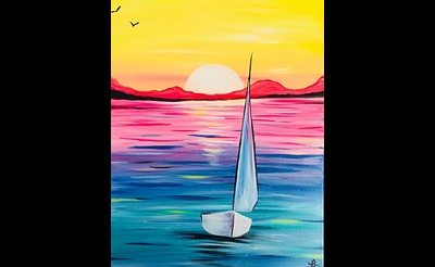 Paint Nite: Sailing Rainbow Seas