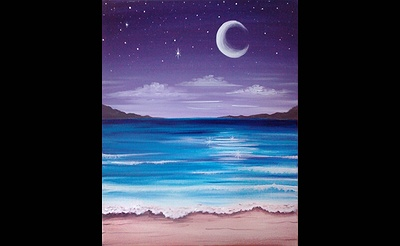 Paint Nite: The Beach At Night