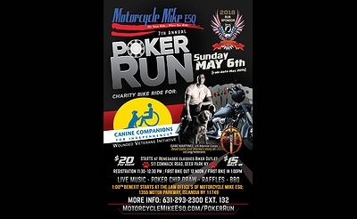 Motorcycle Mike Poker Run/Canine Companions for Independence