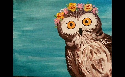 Paint Nite: Peek-a-WHO Owl - Spring
