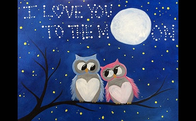 Paint Nite: I Love You To The Moon