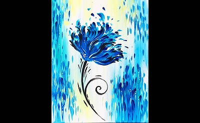Paint Nite: Simply Beautiful In Blue