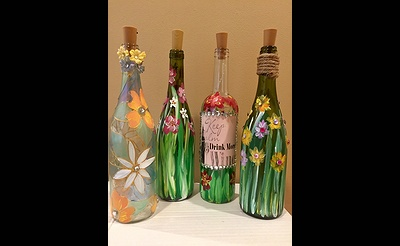 Light Up wine Bottle Paint Night Event !!