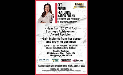 HIA-LI's CEO Forum Featuring: Karen Frank, Executive Vice President of the Omnicon Group