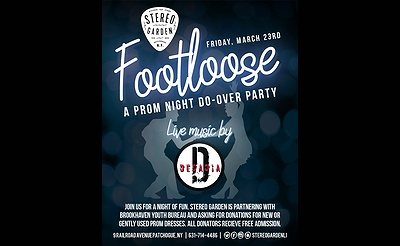 Decadia presents Footloose: A Prom Night Do-over at Stereo Garden!