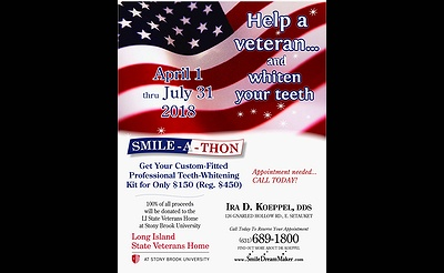 Smile-A-Thon - Whiten Your Teeth While Helping a Veteran