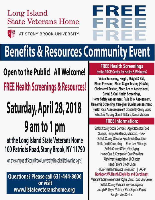 Benefits & Resources Community Event & FREE Health Screenings