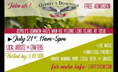 Summer Art Show at Osprey's Dominion Vineyards