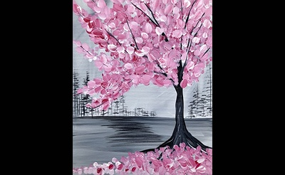 Paint Nite: Pink Cherry Blossom Tree