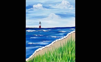 Paint Nite: Lighthouse on the Horizon