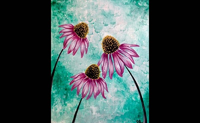 Paint Nite: Happy Little Cone Flowers