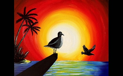 Paint Nite: Sunset Seagulls