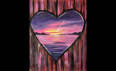 Paint Nite: Heart Of The Sunset