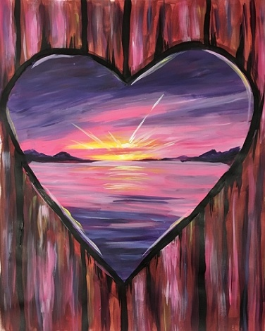 Paint Nite Heart Of The Sunset
