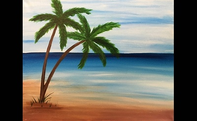 Paint Nite: On Some Beach