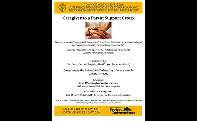 Project Independence - Caregiver to a Parent Support Group