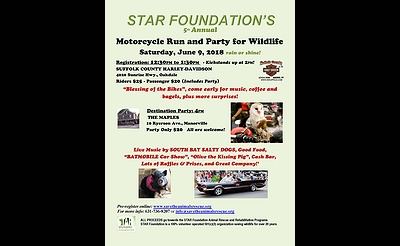 STAR Foundation's 5th Annual Motorcycle Run and Party for Wildlife