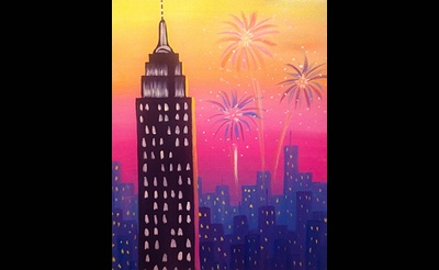 Paint Nite: Fireworks Over The Empire State