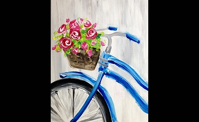 Paint Nite: Red Roses and Blue Bicycle
