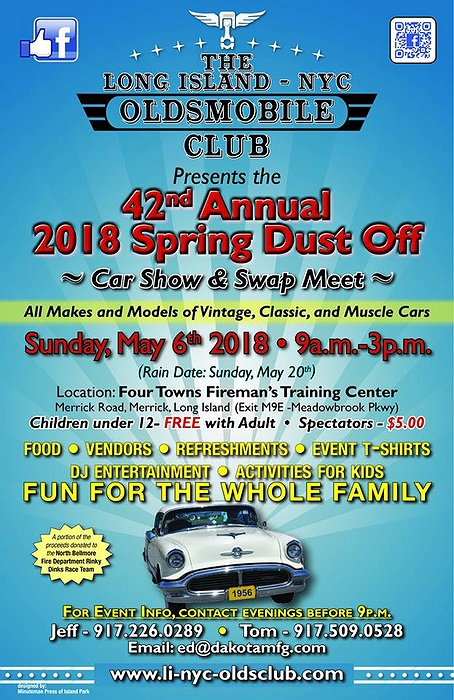 LI NYC Oldsmobile Nd Annual Spring DustOff Car Show And Swap Meet - Car show 2018 nyc