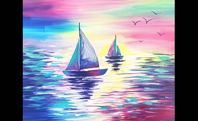 Paint Nite: Sail Into The Pink Sunset