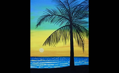 Paint Nite: Palm Tree By The Ocean