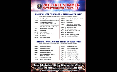 Lakeside Theatre at Eisenhower Park's 2018 Summer Concert Series