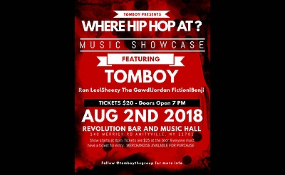 "TomBoy Presents ""Where Hip Hop At?"" Music Showcase"