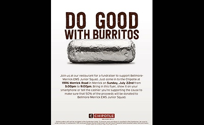 Bellmore-Merrick EMS Junior Squad Chipotle Fundraiser