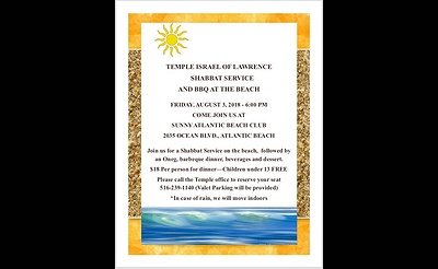 Shabbat Service and BBQ at the Beach