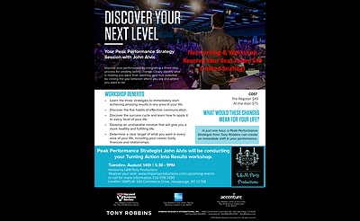 Discover Your Next Level Networking & Workshop