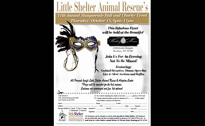 Little Shelter's 11th Annual Masquerade Ball and Charity Event