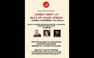 Comedy Night at Mia's of Valley Stream