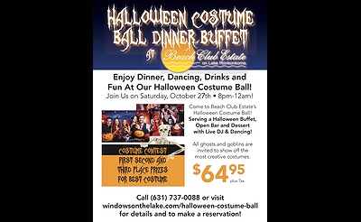 Halloween Costume Ball and Dinner Buffet