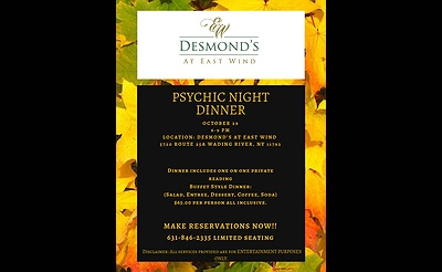 Psychic Night Dinner - Desmond's at East Winds
