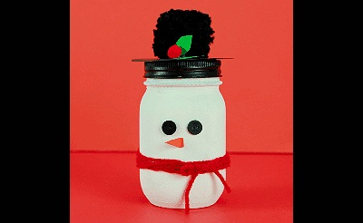 MAKEbreak Snowman Mason Jar
