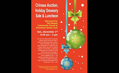 Chinese Auction, Holiday Greenery Sale, & Luncheon