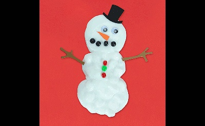 MAKEbreak Snowman Slime