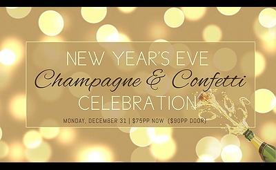 Champagne & Confetti Celebration: New Year's Eve at Cowfish