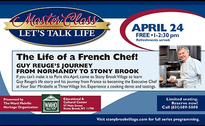 Master Class….The Life of a French Chef