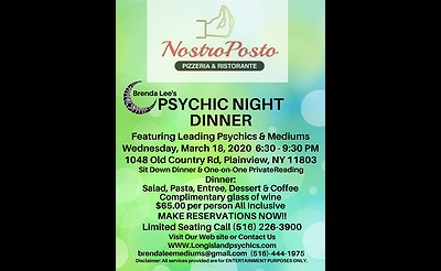 Psychic Night Dinner at Nostro Posto Pizzeria Ristorante