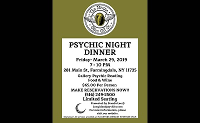 Psychic Night Dinner at The Divine Olive Oil Co.