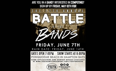 17th Annual Battle of the Bands - Band Applications Now Available!