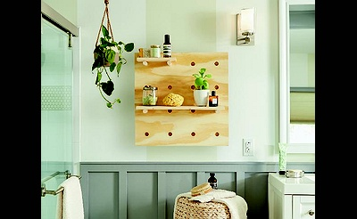 DIY Workshop: Pegboard Shelves