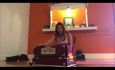 Yoga with Harmonium Live Music Class