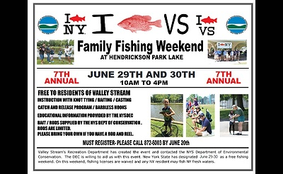 7th Annual Family Fishing Weekend at Hendrickson Park