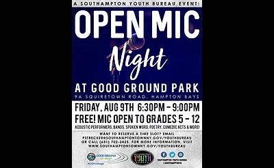 Open Mic Night at Good Ground Park