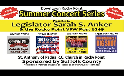 Downtown Rocky Point Summer Concert Series - Mike DelGuidice
