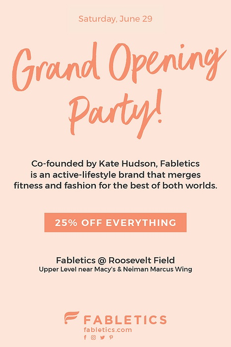 Fabletics Store at Roosevelt Field Grand Opening Party
