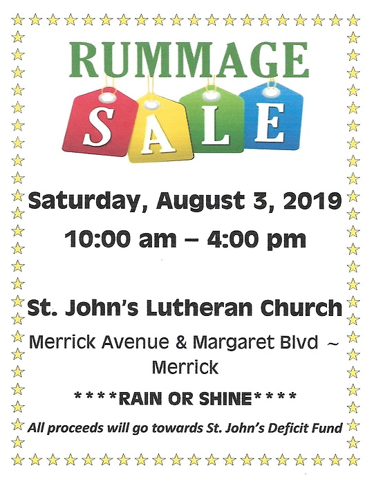 St  John's Lutheran Church Rummage Sale